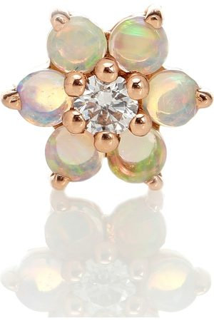 Maria Tash Garland 18kt rose gold single earring with opal and diamond