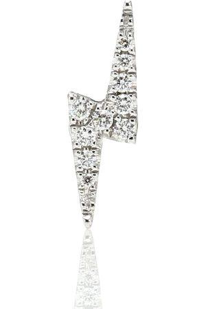 Maria Tash Lightning Bolt 14kt white gold single earring with diamonds