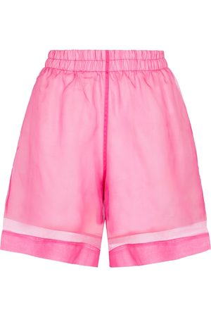 DRIES VAN NOTEN Cotton and silk organza shorts