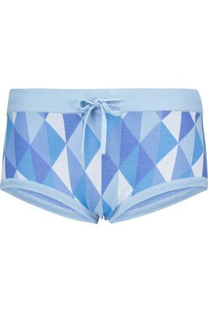 DODO BAR OR Jacquard low-rise shorts