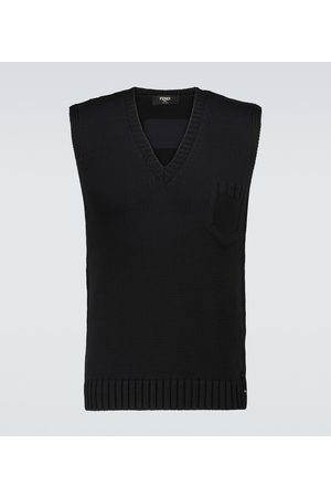Fendi Cotton-blend embossed vest