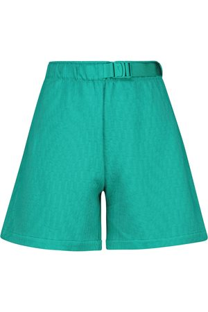 Nike High-rise belted fleece shorts