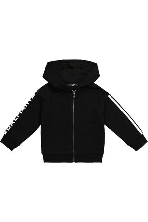 Balmain Logo zip-up cotton hoodie