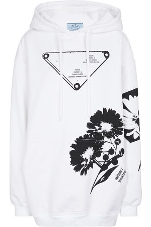 Prada Oversized cotton jersey hoodie