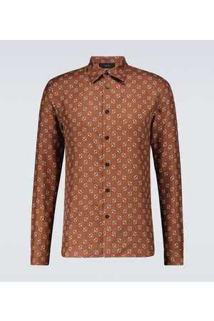 AMIRI Micro paisley long-sleeved shirt