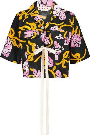Marni Floral cotton poplin shirt