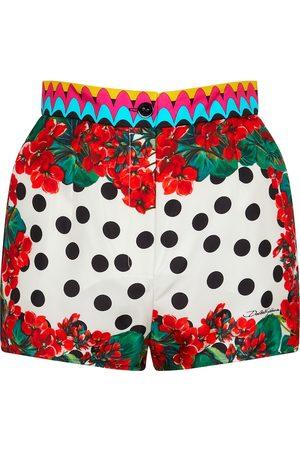 Dolce & Gabbana Polka-dot silk twill shorts