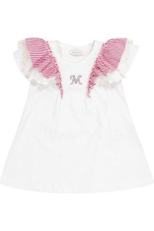 MONNALISA Ruffle-trimmed cotton T-shirt