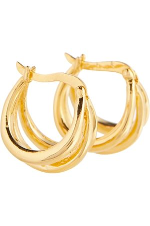 Sophie Buhai Triple Francois 18kt gold vermeil earrings