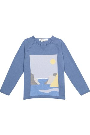 BONPOINT Intarsia cashmere and cotton sweater