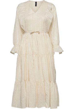 YAS Fabrina Ls Long Dress - Fest Dresses Everyday Dresses Hvit