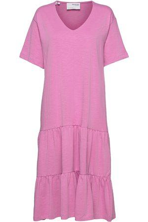 SELECTED Dame Midikjoler - Slfreed 2/4 Midi Dress M Knelang Kjole