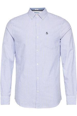Original Penguin Herre Langermede - Long Sleeved Stripe Slim Fit Cotton Oxford Shirt Skjorte Uformell