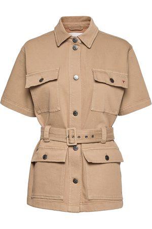 Tomorrow Dame Turjakker - Mandela Ss Pocket Jacket Khaki Outerwear Jackets Utility Jackets Beige