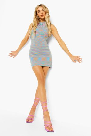 Boohoo Knitted Backless Halter Neck Dress