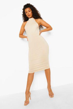 Boohoo High Neck Midi Dress