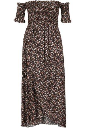Boohoo Plus Ditsy Off Shoulder Maxi Dress