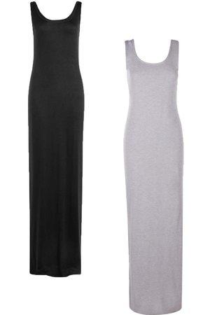 Boohoo Tall Scoop Maxi Dress 2 Pack