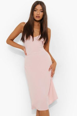 Boohoo Matte Satin Cami Slip Dress