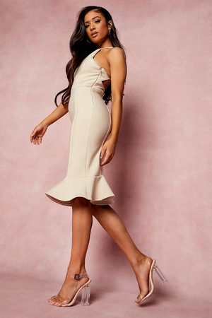 Boohoo Petite Bandage Halter Bodycon Midi Dress