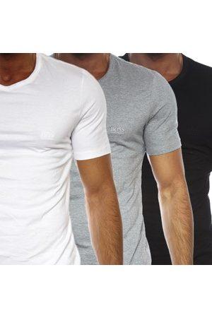 HUGO BOSS Herre Kortermede - BOSS Cotton Classic Crew Neck T-shirt 3-pakning