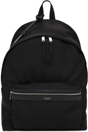 Saint Laurent Logo Nylon City Backpack