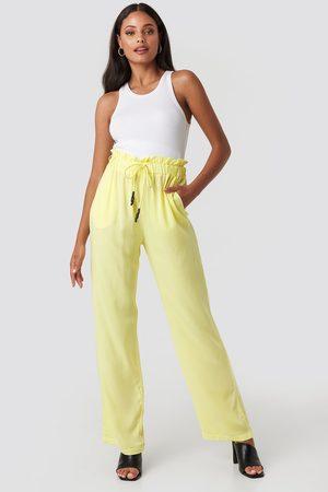 NA-KD Dame Slengbukser - Paperbag Wide Leg Trousers