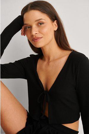 NA-KD Dame Loungewear - Resirkulert Loungewear Topp Med Ribber Og Knytting