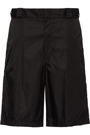 Prada Herre Bermudashorts - Re-Nylon logo plaque shorts