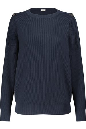 Brunello Cucinelli Dame Strikkegensere - Ribbed-knit cotton sweater