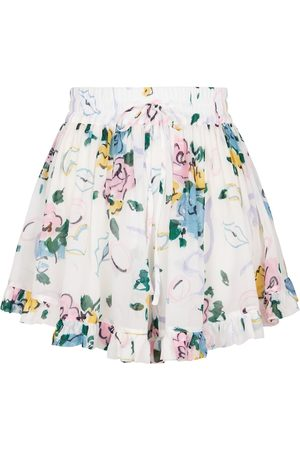 Alessandra Rich Dame Shorts - High-rise floral shorts