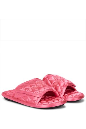 Balenciaga Dame Loafers - Home quilted satin slides