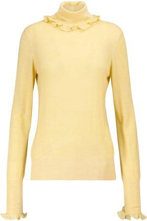 Victoria Beckham Dame Pologensere - Ruffled turtleneck sweater