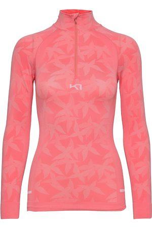 Kari Traa Butterfly H/Z T-shirts & Tops Long-sleeved Rosa