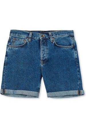 Nudie Jeans Josh Stretch Denim Shorts Friendly Blue