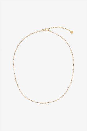 ANINE BING Diamond Tennis Necklace in Gold
