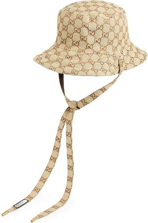 Gucci Dame Hatter - Reversible hat in GG canvas and nylon