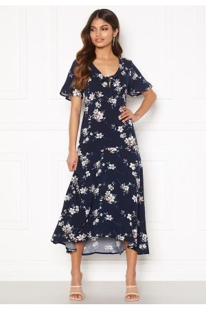 Happy Holly Therese dress Dark blue / Floral 48