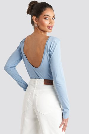 NA-KD Basic Dame Langermede - Deep Back Long Sleeve Top