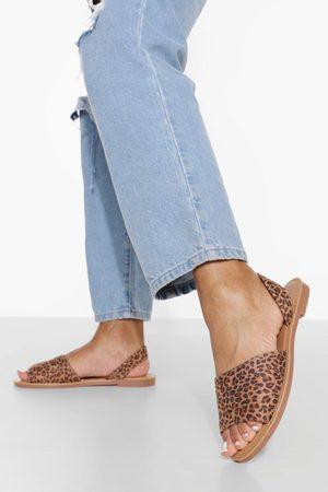 Boohoo Dame Flip flops - Wide Fit Peep Toe Sandal