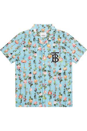Burberry Floral cotton shirt