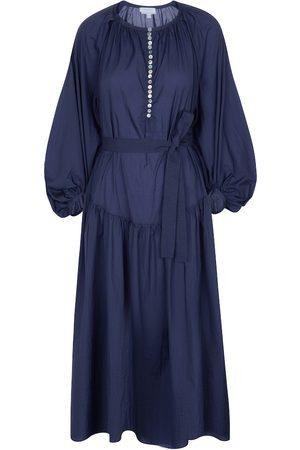 Deveaux New York Ruth cotton midi dress