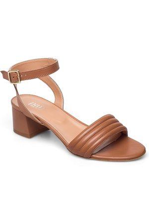 A Pair Dame Høyhælte sandaler - Padded Dimpel Sandal Sandal Med Hæl