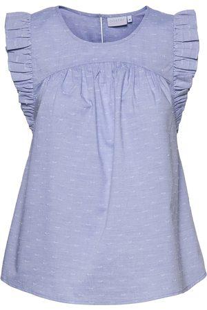 Coster Copenhagen Dame Topper - Top With Ruffles T-shirts & Tops Sleeveless