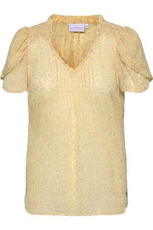 Coster Copenhagen Top In Splash Print T-shirts & Tops Short-sleeved Creme