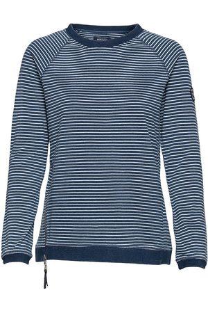 SEBAGO Indigo Striped Crew Neck T-shirts & Tops Long-sleeved