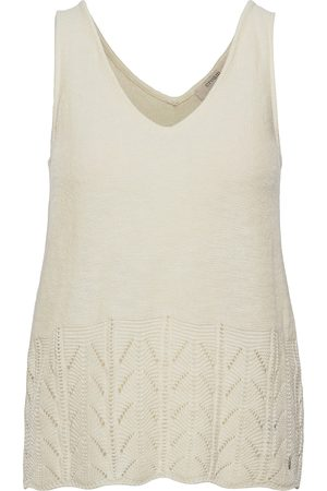 Cream Crpina Knit Top T-shirts & Tops Knitted T-shirts/tops Creme