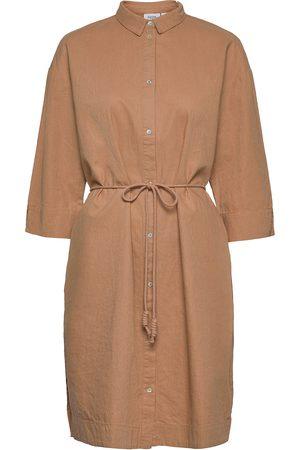 Saint Tropez Gisellesz Shirt Dress Dresses Shirt Dresses Beige
