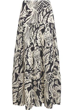 JOHANNA ORTIZ Printed Tencel Twill Long Skirt