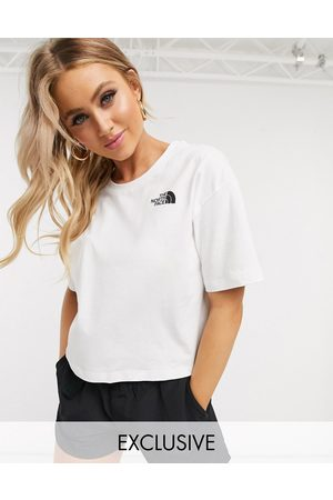 The North Face Simple Dome Cropped t-shirt in white Exclusive at ASOS